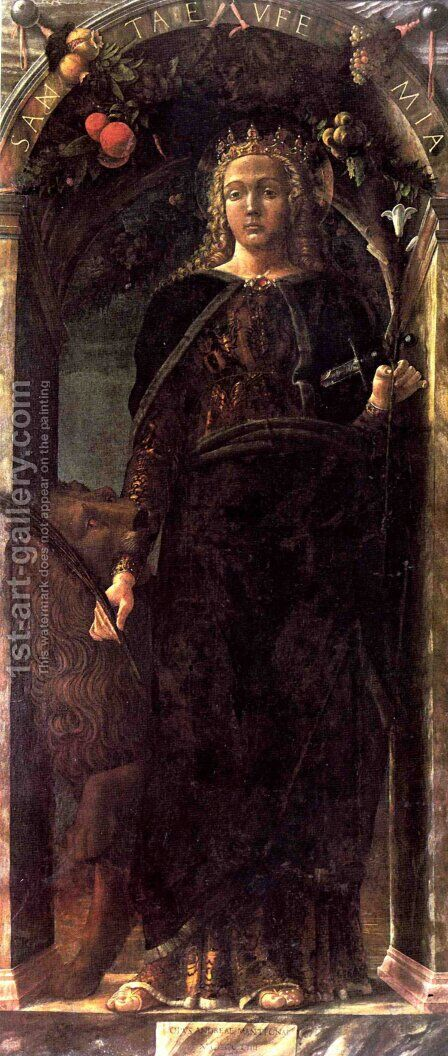 Saint Euphemia by Andrea Mantegna - Reproduction Oil Painting
