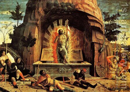 San Zeno Altarpiece Resurrection by Andrea Mantegna - Reproduction Oil Painting
