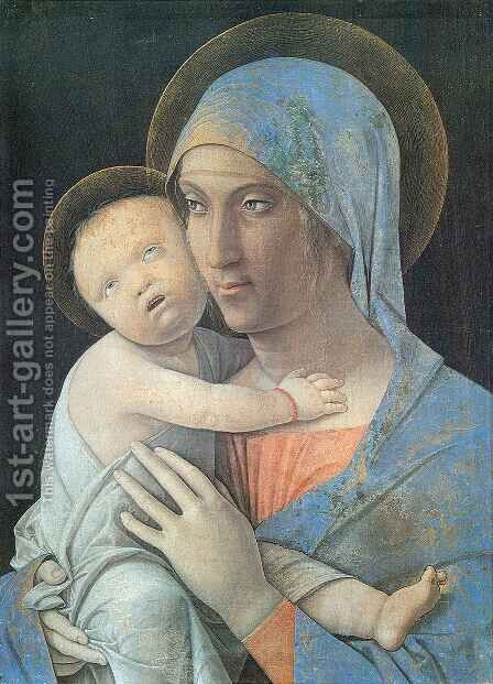 Virgin and Child 3 by Andrea Mantegna - Reproduction Oil Painting