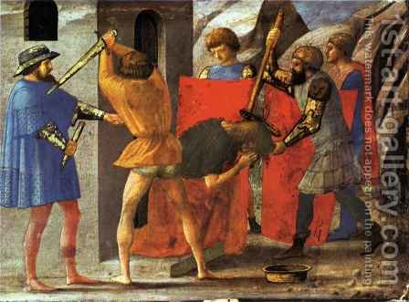 Pisa polyptych Martyr of St John the Baptist by Masaccio (Tommaso di Giovanni) - Reproduction Oil Painting