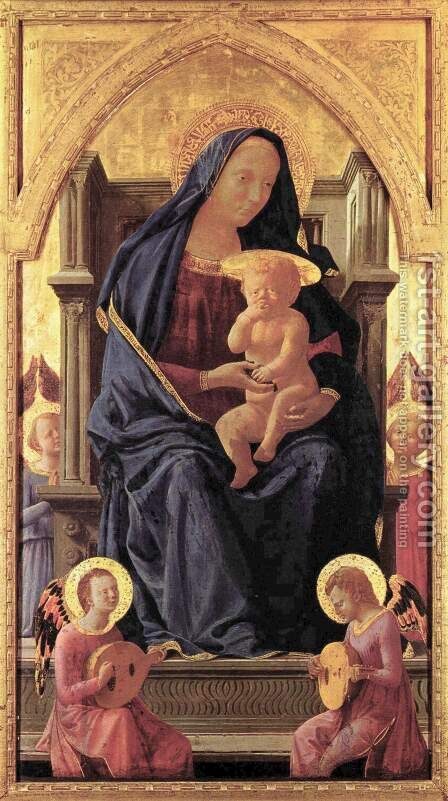 Pisa polyptych Virgin and Child by Masaccio (Tommaso di Giovanni) - Reproduction Oil Painting