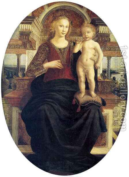 Madonna with Child by Antonio Del Pollaiuolo - Reproduction Oil Painting