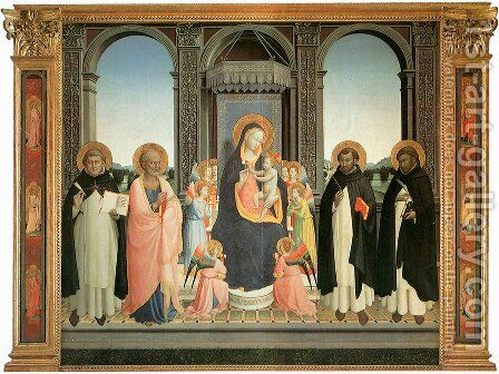 San Domenico Altarpiece by Angelico Fra - Reproduction Oil Painting