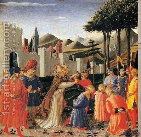 The Story of St Nicholas The Liberation of Three Innocents by Angelico Fra - Reproduction Oil Painting