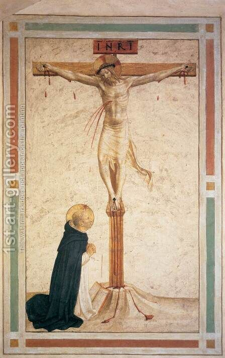 Crucifixion with St Dominic (Cell 17) by Angelico Fra - Reproduction Oil Painting