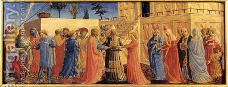 Marriage of the Virgin by Angelico Fra - Reproduction Oil Painting