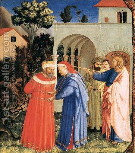 The Apostle St James the Great Freeing the Magician Hermogenes by Angelico Fra - Reproduction Oil Painting