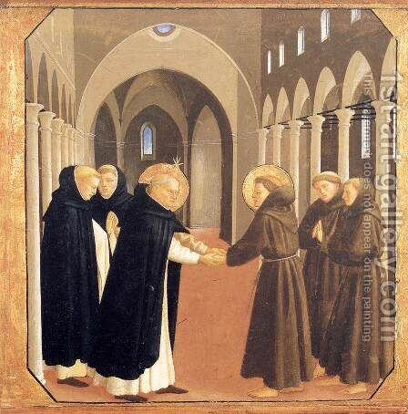 The Meeting of Sts Dominic and Francis of Assisi by Angelico Fra - Reproduction Oil Painting