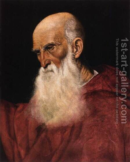 Portrait of a Cardinal by Jacopo Bassano (Jacopo da Ponte) - Reproduction Oil Painting