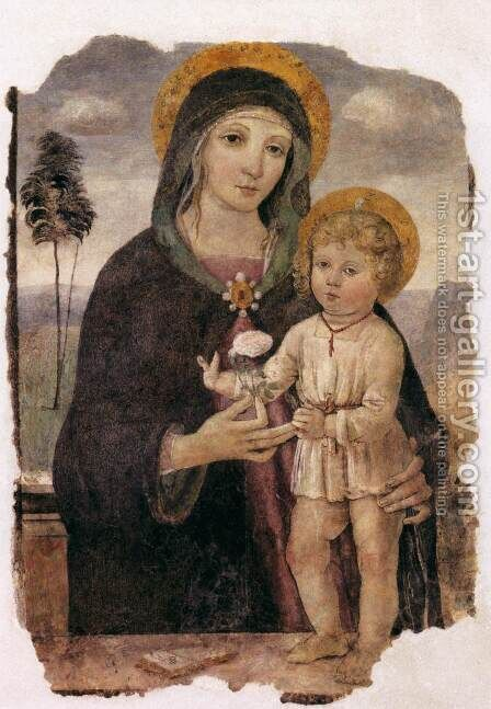 Virgin and Child by Bartolomeo Caporali - Reproduction Oil Painting
