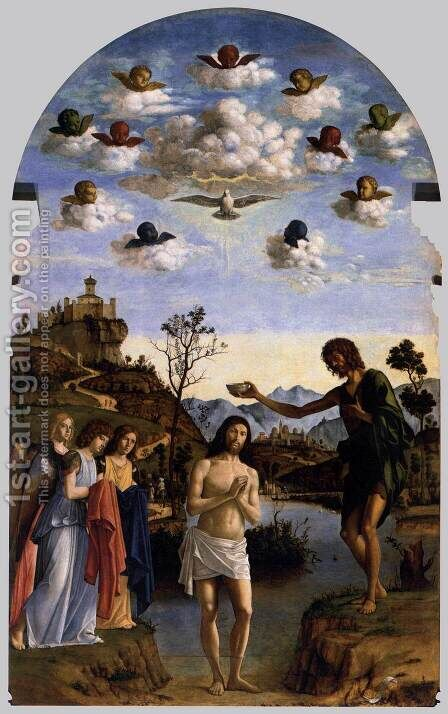 Baptism of Christ by Giovanni Battista Cima da Conegliano - Reproduction Oil Painting