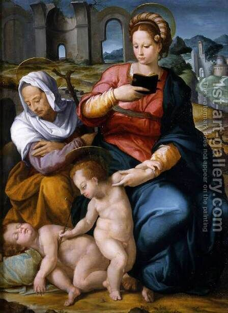 Virgin and Child with St Elizabeth and the Infant Baptist by Jacopino del Conte - Reproduction Oil Painting