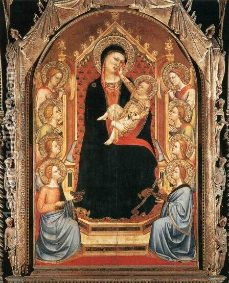 Orsanmichele Madonna and Child with Angels by Bernardo Daddi - Reproduction Oil Painting