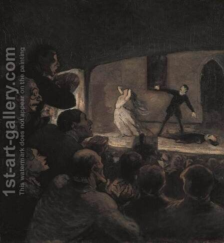 The Drama by Honoré Daumier - Reproduction Oil Painting