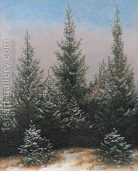 Fir Trees in the Snow by Caspar David Friedrich - Reproduction Oil Painting