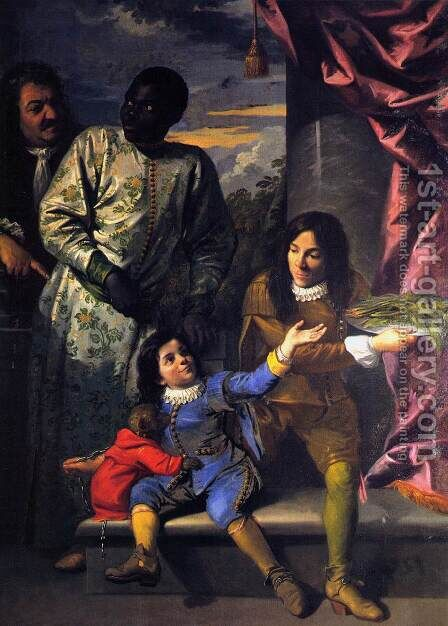 Portrait of Four Servants of the Medici Court by Anton Domenico Gabbiani - Reproduction Oil Painting