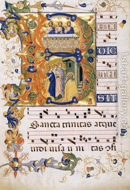 Gradual 2 for San Michele a Murano (Folio 74) by Don Silvestro Dei Gherarducci - Reproduction Oil Painting