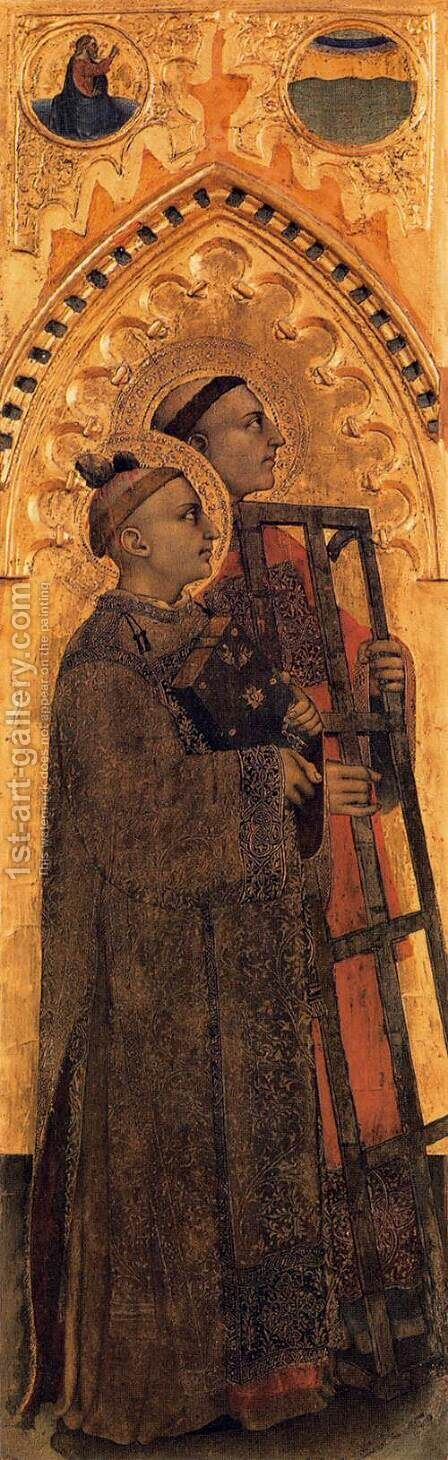 Ognissanti Polyptych lateral panel 2 by Giovanni Da Milano - Reproduction Oil Painting