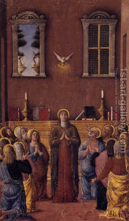 Pentecost by da Cremona Girolamo - Reproduction Oil Painting