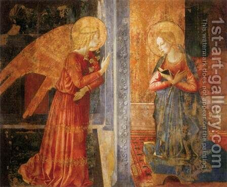 San Domenico Annunciation by Benozzo di Lese di Sandro Gozzoli - Reproduction Oil Painting