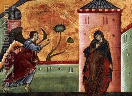 Annunciation by Guido Da Siena - Reproduction Oil Painting