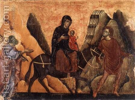 Flight into Egypt 2 by Guido Da Siena - Reproduction Oil Painting