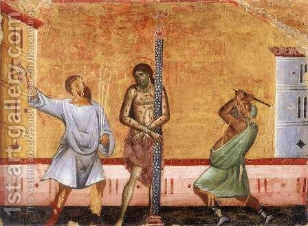 Flagellation by Guido Da Siena - Reproduction Oil Painting