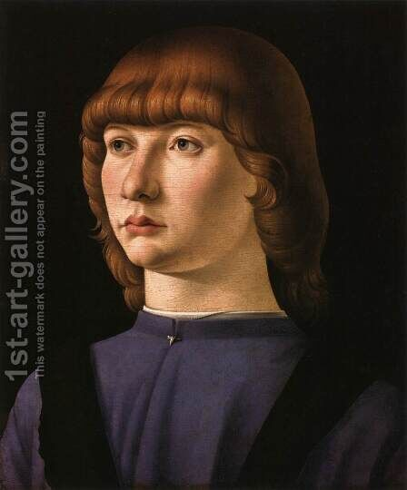 Portrait of a Boy by Jacometto Veneziano - Reproduction Oil Painting
