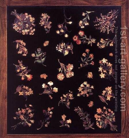 Model for a pietre dure table top by Jacopo Ligozzi - Reproduction Oil Painting