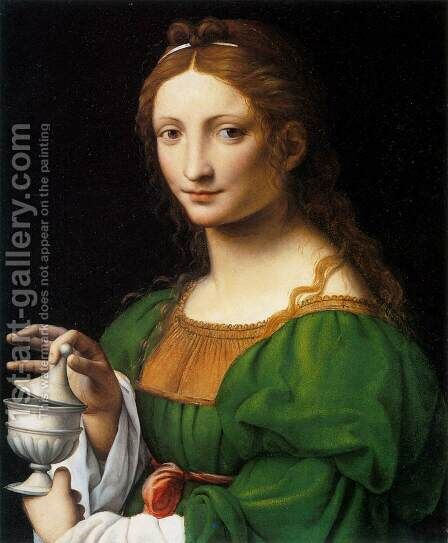 The Magdalen by Bernardino Luini - Reproduction Oil Painting