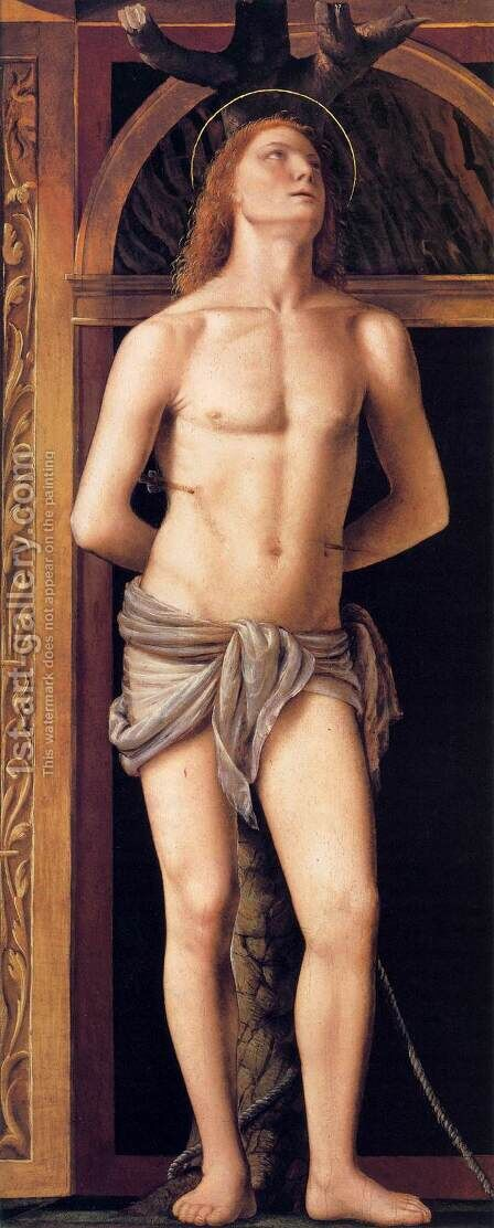 St Sebastian by Bernardino Luini - Reproduction Oil Painting