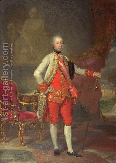 Portrait of Emperor Joseph II by Anton von Maron - Reproduction Oil Painting