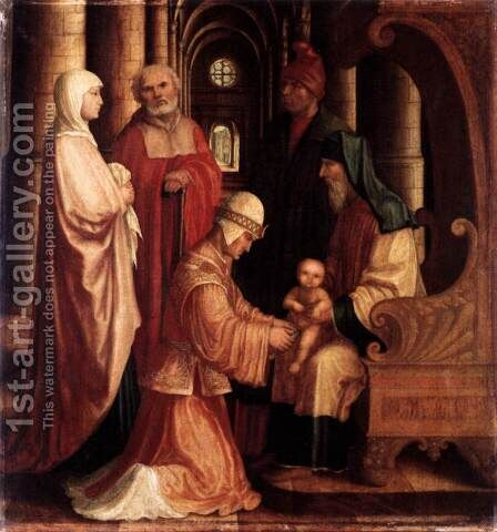 The Circumcision by Master Of Ab Monogram - Reproduction Oil Painting