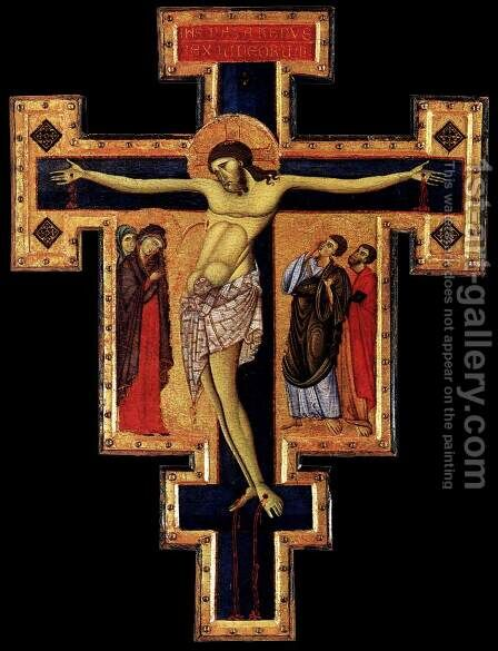 Crucifix by Master of St Francis - Reproduction Oil Painting
