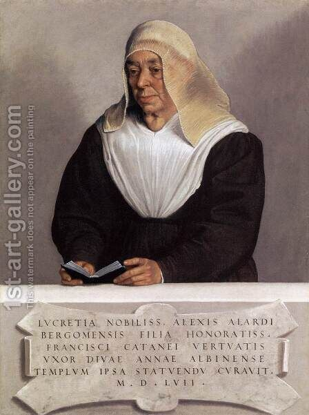 Abbess Lucrezia Agliardi Vertova by Giovanni Battista Moroni - Reproduction Oil Painting