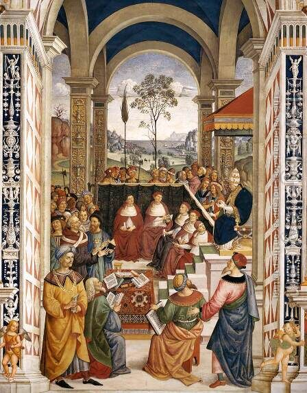 No. 8 Pope Pius II at the Congress of Mantua 2 by Bernardino di Betto (Pinturicchio) - Reproduction Oil Painting