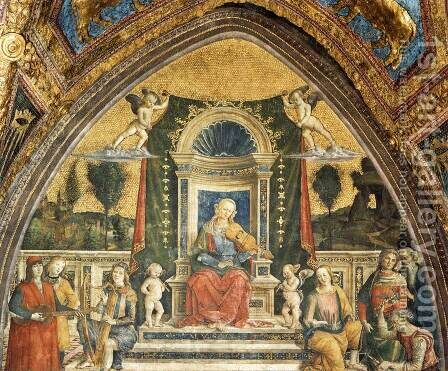 Music by Bernardino di Betto (Pinturicchio) - Reproduction Oil Painting