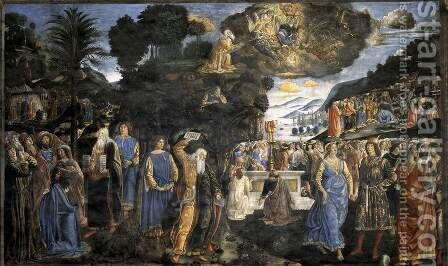 Tables of the Law with the Golden Calf by Cosimo Rosselli - Reproduction Oil Painting