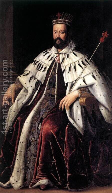 Cosimo I de' Medici by Italian Unknown Masters - Reproduction Oil Painting