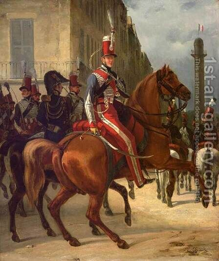 The Duke of Chartres on Horseback by Horace Vernet - Reproduction Oil Painting