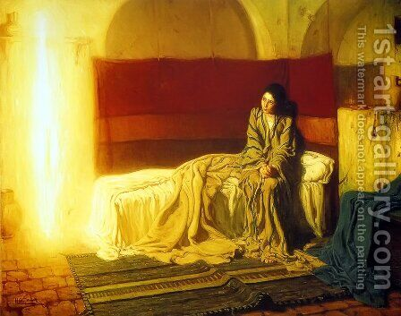 The Annunciation by Henry Ossawa Tanner - Reproduction Oil Painting