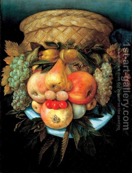 Vaso Reversibile by Giuseppe Arcimboldo - Reproduction Oil Painting