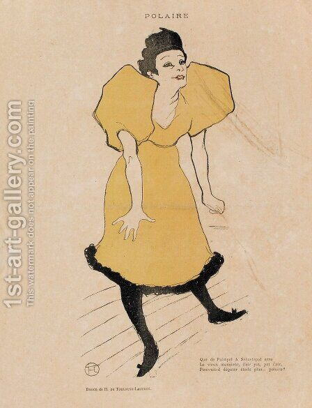 Polaire by Toulouse-Lautrec - Reproduction Oil Painting