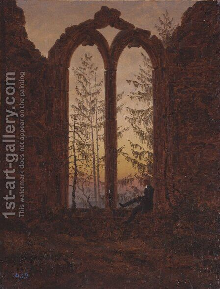 The Dreamer (Ruins of the Oybin Monastery) by Caspar David Friedrich - Reproduction Oil Painting
