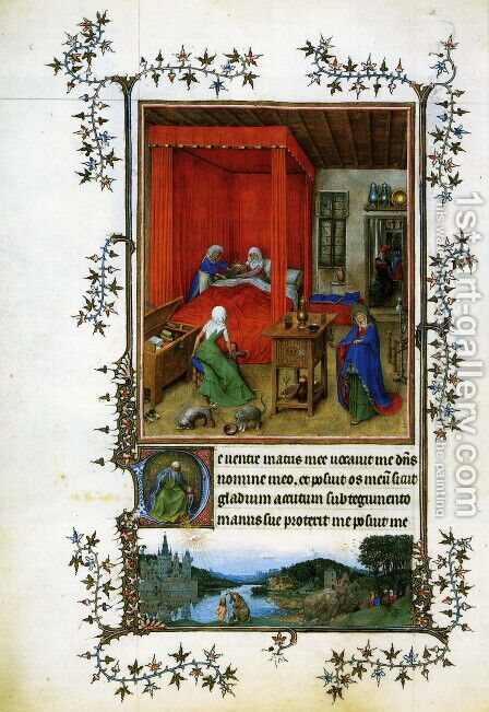 Miniature Turin-Milan Hours by Jan Van Eyck - Reproduction Oil Painting
