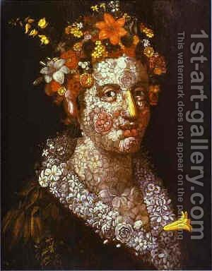 Ninfa Flora by Giuseppe Arcimboldo - Reproduction Oil Painting