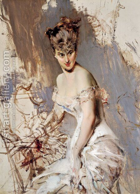 Portrait of Alice Regnault by Giovanni Boldini - Reproduction Oil Painting