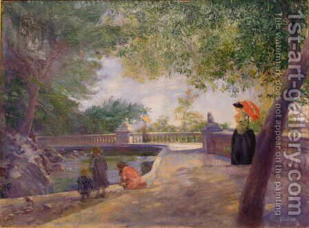 Un Jour Dans Le Parc by Gustave Caillebotte - Reproduction Oil Painting