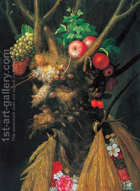 The Four Seasons in One Head by Giuseppe Arcimboldo - Reproduction Oil Painting