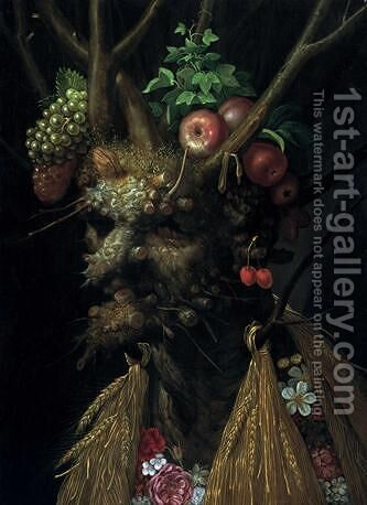 Autumn by Giuseppe Arcimboldo - Reproduction Oil Painting